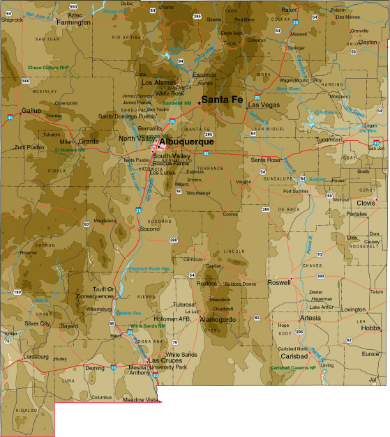 North New Mexico Map.State Map Sites Perry Castaneda Map Collection Ut Library Online
