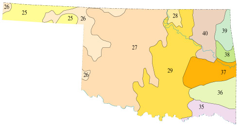 Level III Ecoregions Of Oklahoma